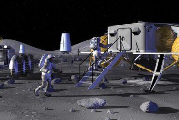 cgi of people walking on moon