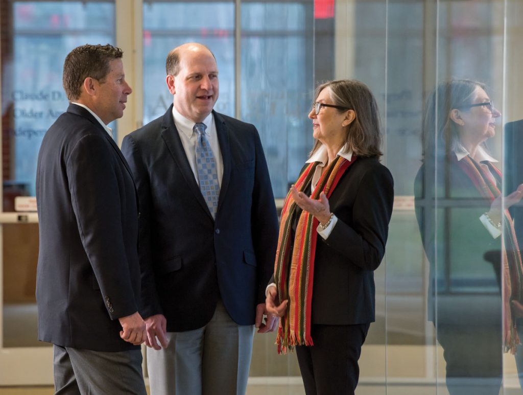 Nelson, Biomedical Informatics Director William Hogan and Community Engagement and Research Director Linda Cottler.