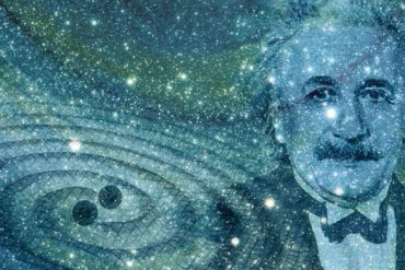 Albert Einstein, gravitational waves graphic art