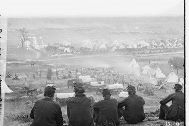 old photograph, men in war