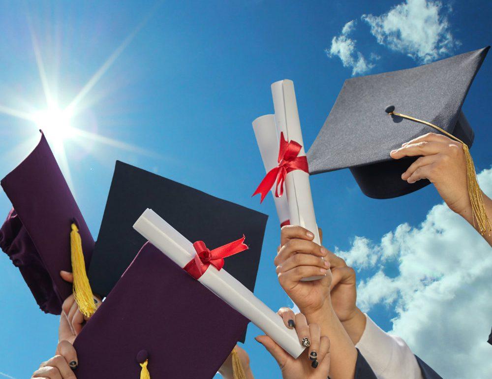 college graduation stock photo