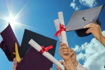 college graduation stock photo