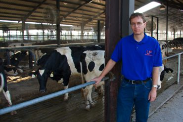 Albert De Vries, an animal sciences associate professor, poses at the UF Dairy Research Unit in Hague.