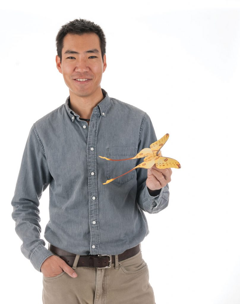 Akito Kawahara, an assistant curator for the McGuire Center for Lepidoptera and Biodiversity in the Florida Museum of Natural History