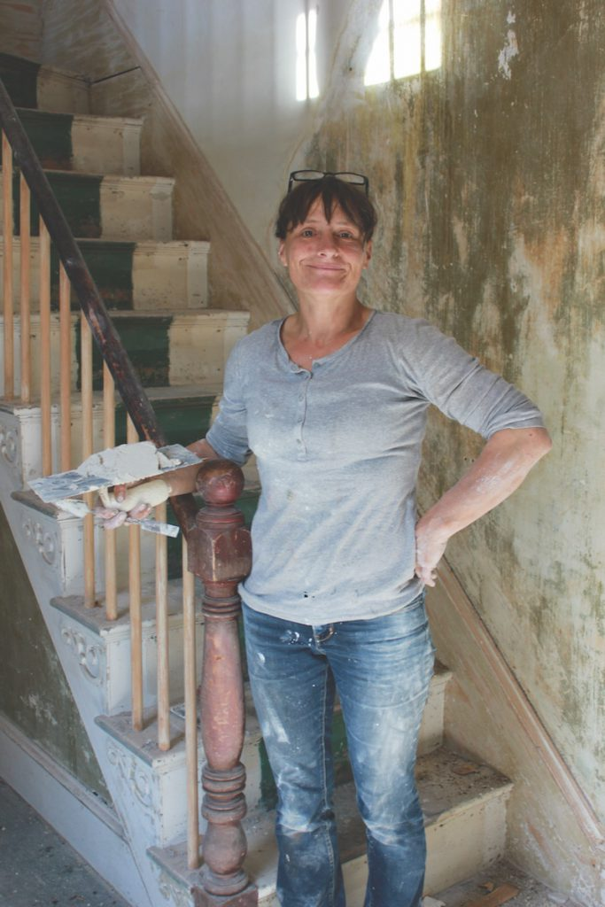 "Architectural conservationist Pen Austin strives to restore homes with materials that the original builders would have used, so the old and the new ""behave in the same way."""