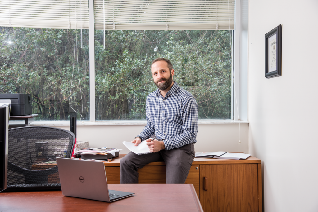 Chris Reisch is developing new CRISPR tools that allow for even more precise gene editing.
