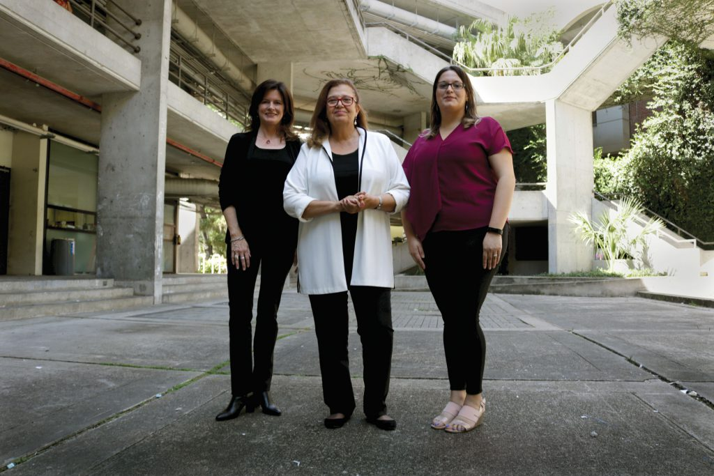 Left to right, Nancy Clark, Martha Kohen and Maria Estefania Barrios. Photo by Kaitlin Hall.
