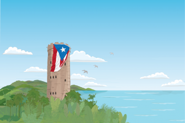 Puerto Rico historical building artwork