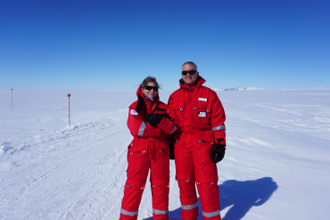 Researchers in Antarctica, Anna-Lisa Paul and Rob Ferl