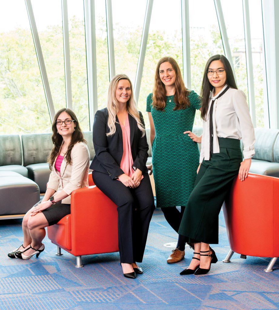 Christine Vitiello, Samantha Douglas, Kate Ratliff and Elsa Jiang