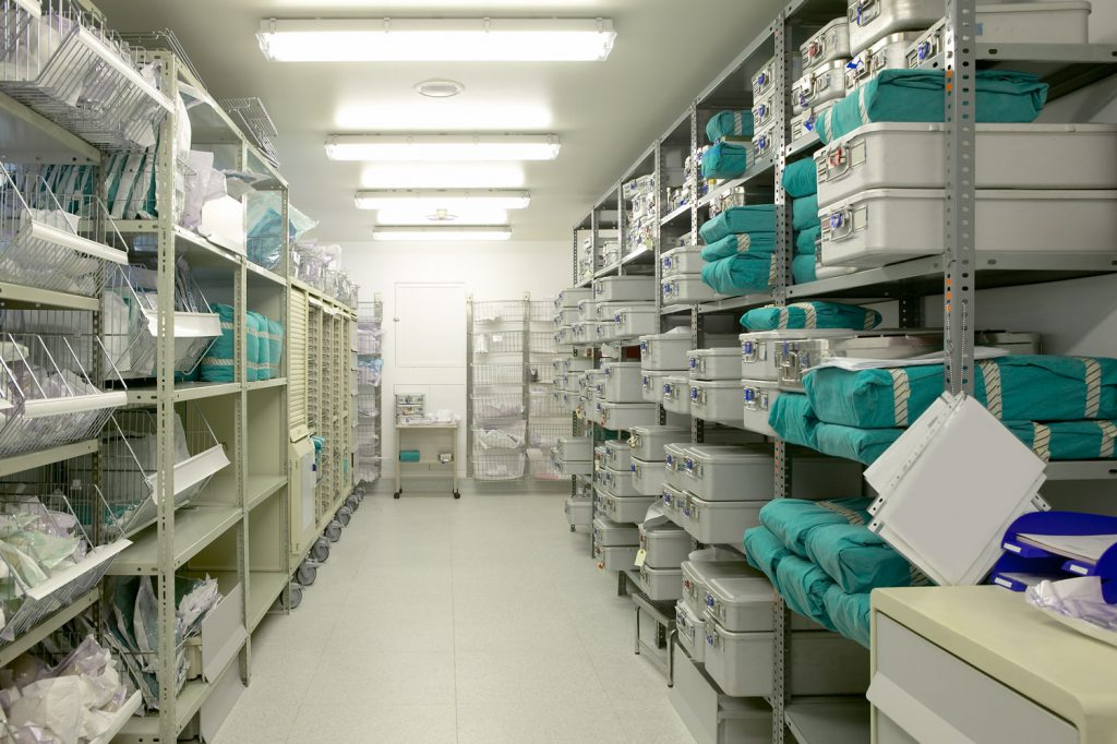Medical supply storage room.