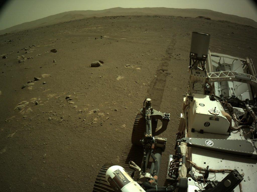 NASA's Mars Perseverence rover's left navigation camera